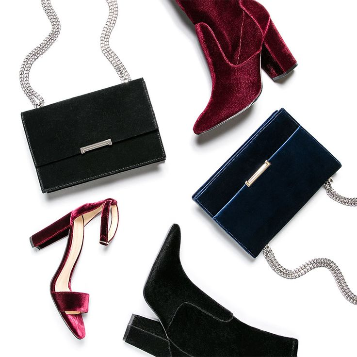 We've incorporated the rich texture of velvet into everything from our  jewel-toned cocktail bags to our dramatic shoes.