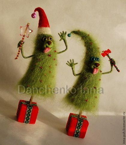 """Новый год 2015 ручной работы. Ярмарка Мастеров - ручная работа """"Ёлк Палыч"""" - елка вязаная новогодняя. Handmade."""