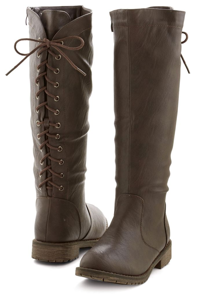 Beautiful lace-up boots.