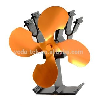 Eco Wood Burning Stove Fan, Heat Powered Fireplace Fan(VDSF614G)
