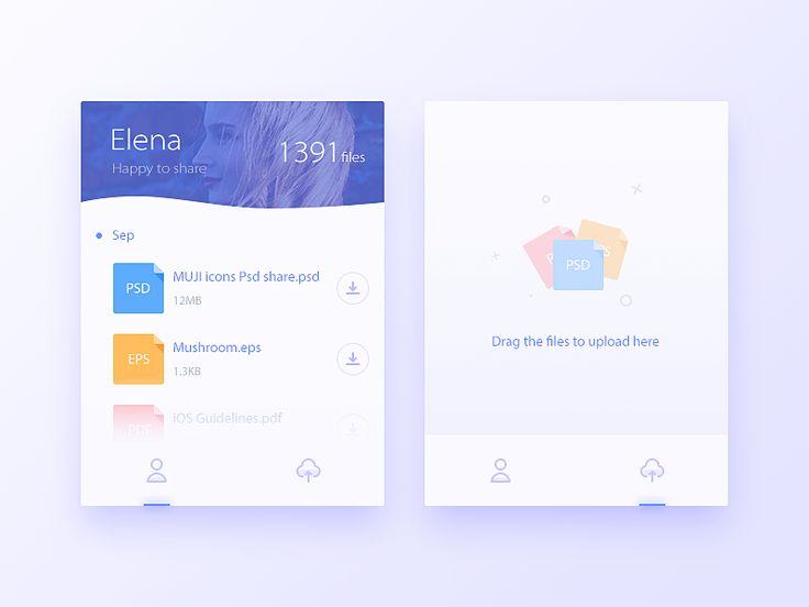 File Upload UI Inspiration — Muzli -Design Inspiration