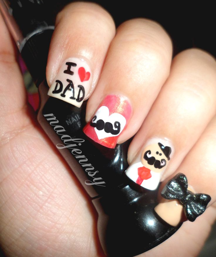 34 best Nail Designs Father\'s Day... images on Pinterest | Nail art ...