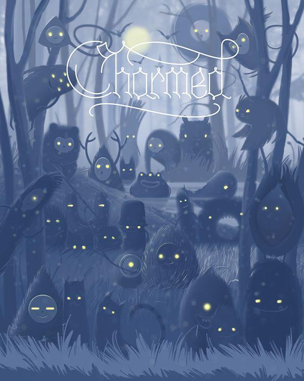 Charmed app on Behance