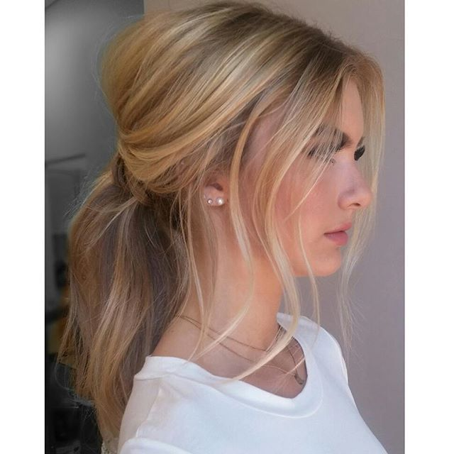 MESSY ponytails are sooooo sexy= #hair me. @allymasonnnn @fordrbaaz…