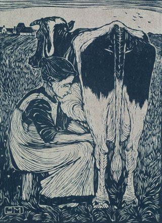 Jan Mankes  Koemelkster, 1914