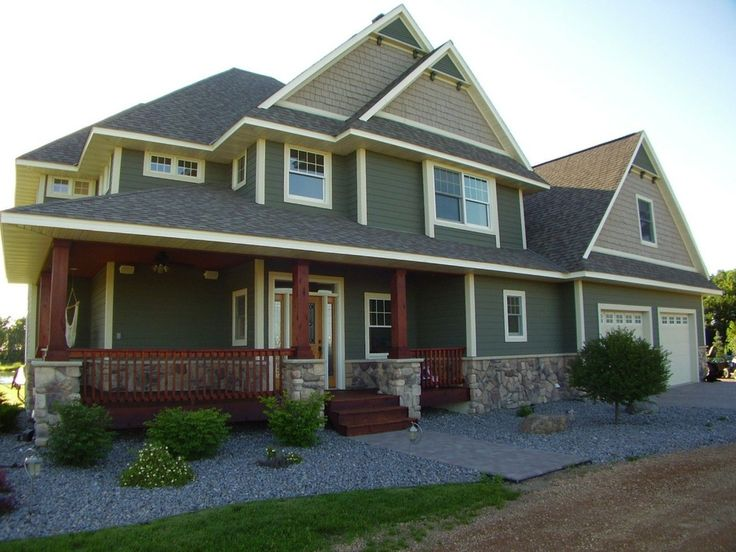 exterior extraordinary home architecture design ideas using red cherry wood front porch railing including craftsman style home colors and dark grey wood