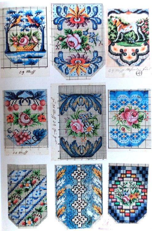 Berlin WoolWork Patterns For Victorian Purses 1