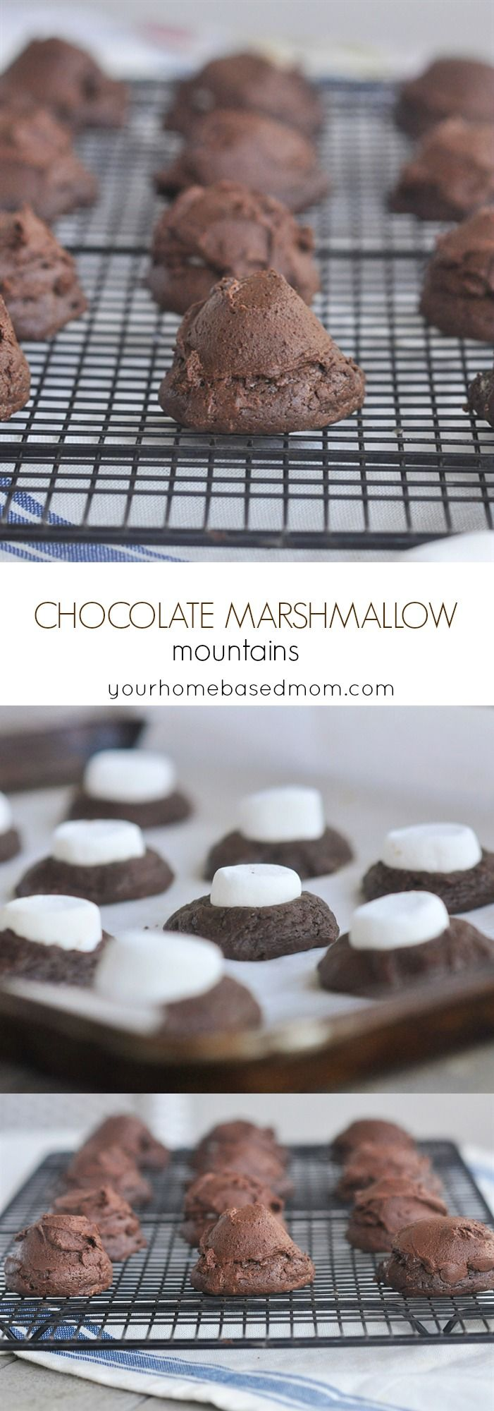 Chocolate Marshmallow Mountains Cookies Recipe - These are my kind of mountain, full of chocolate and marshmallow!