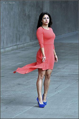 Pittsburgh model Danielle Cara: Coral Dress: pinterest.com/pin/437975132482854523