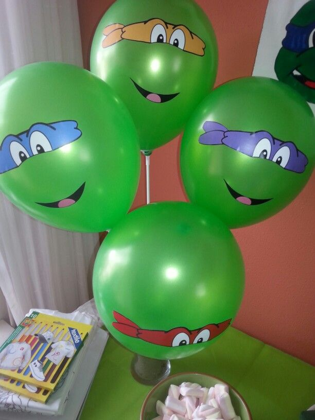 Ninja turtle ballonnen.