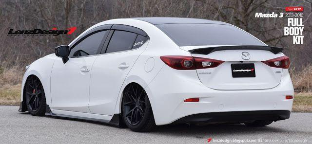 Mazda 3 Bm Axela Lenzdesign Bodykit Spoilers 2013 2014 2015 2016 2017 2018 Mazda 3 Sedan Mazda Mazda 3