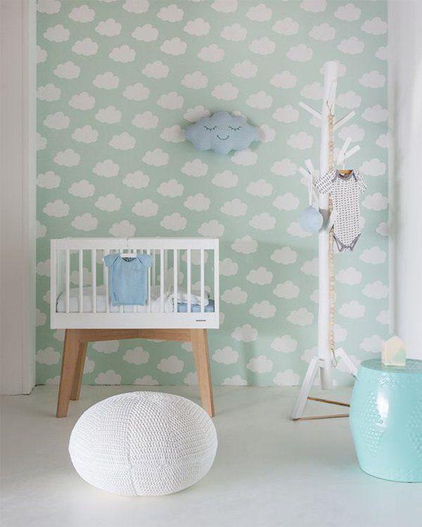 Los papeles pintados más populares en la habitación del bebé - http://decoracionbebes.com/papeles-pintados-bebe-trendy/