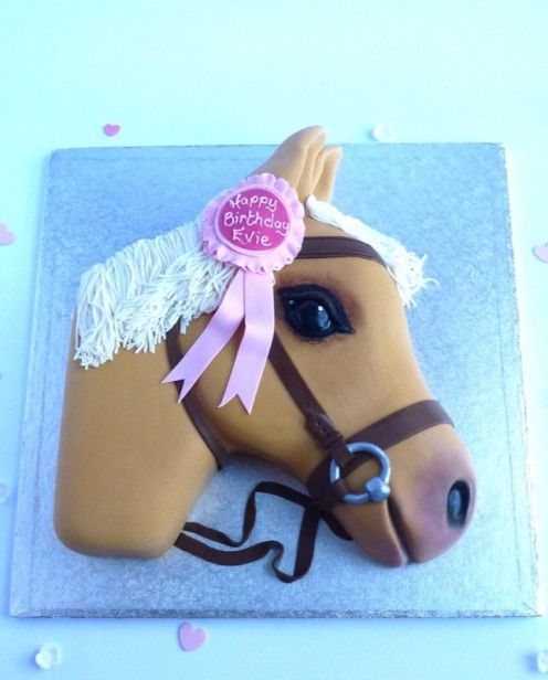 Horse's head cake by Karen's Cakes. (unicorn birthday cakes)