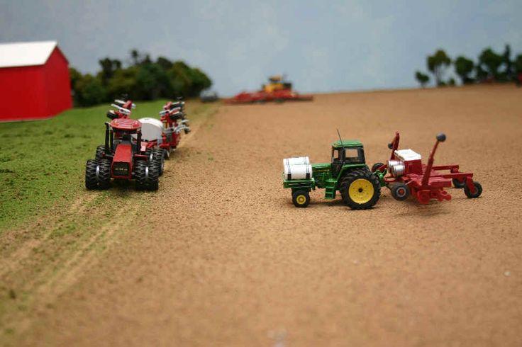 1/64 custom farm toys   Harvesting Oats on the Model Farm - The Combine Forum