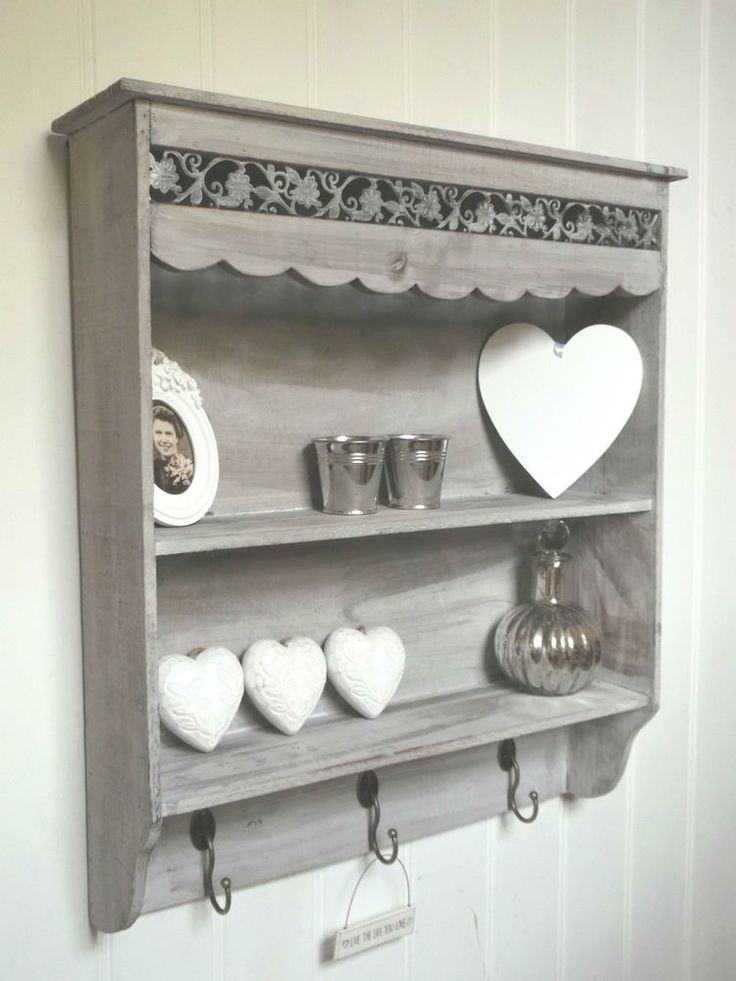 Shabby Chic Wall Unit Shelf Storage Cupboard Cabinet Hooks French Vintage  Style. 54 best Wishlist  home  images on Pinterest   Garden gifts  Boxes