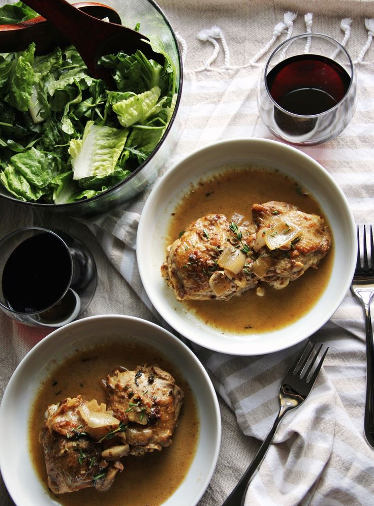 Dijon and wine braised chicken thighs - The Pastiche