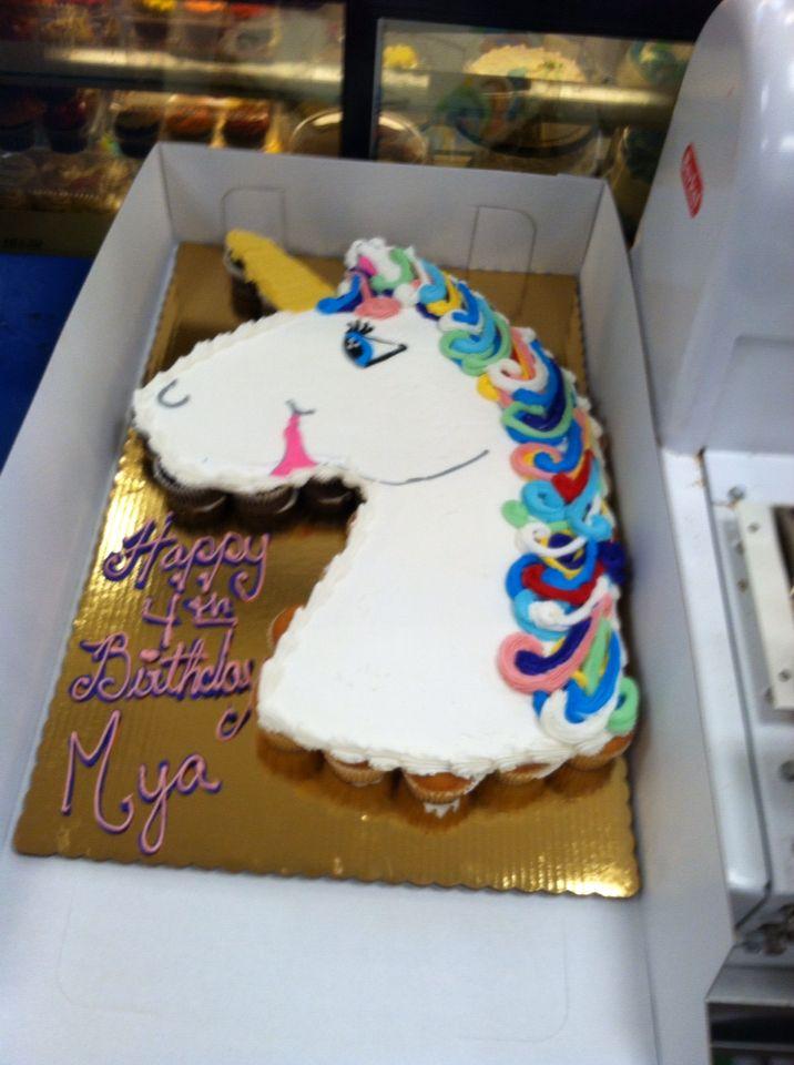 Unicorn Pull Apart Cake Cakes By Katie Pinterest