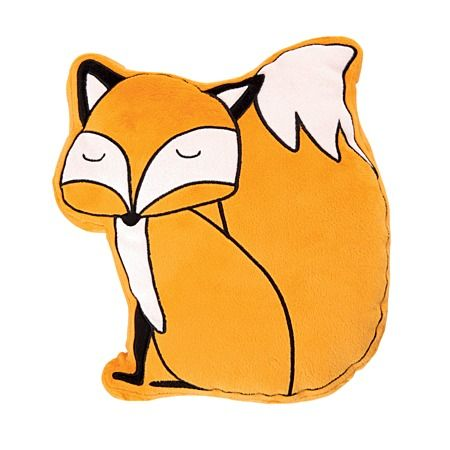 Kids Napping Cushion Novelty Fox Orange 29cm x 32cm