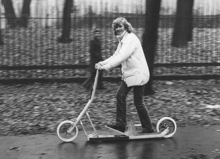 Folding Scooter 1979 Study for City Traffic in Milan (prototype) Triennale XVI  Richard Sapper