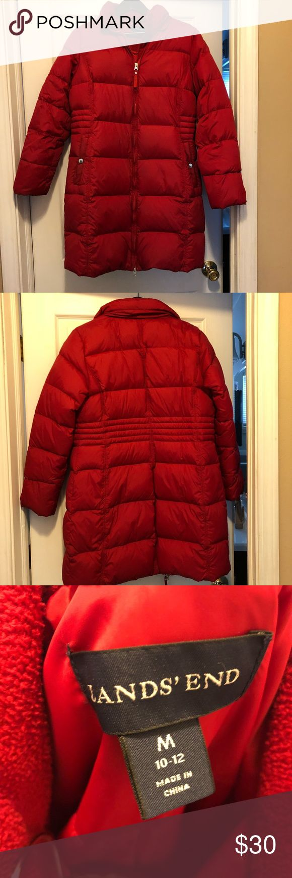 ❗️ONE DAY SALE❗️❄️Lands' End Down Coat❄️ Super warm down coat from Lands' End. Has a dual zipper that allows you to unzip from the bottom. Also, has an inside pocket. I got a new coat last winter so I never wear this one anymore so letting it go. It's in great condition and only sign of wear was near both pockets as they are a little darker as shown in picture 5 & 6. Bundle with another item in my closet for 20% off! *price is firm unless bundled! Lands' End Jackets & Coats