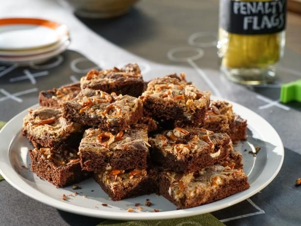 Get Peanut Butter Brownies with Salted Pretzels Recipe from Food Network