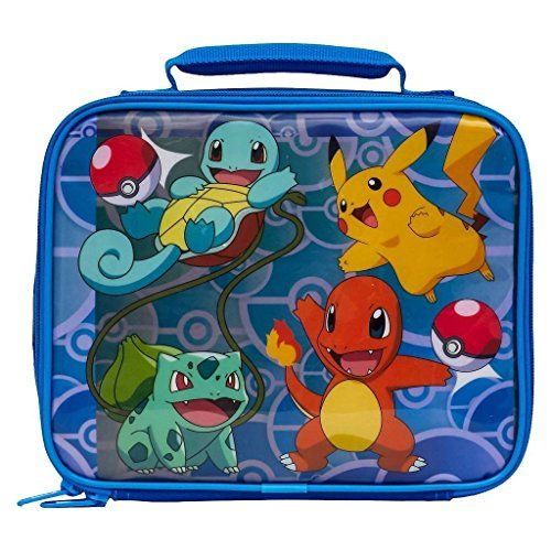 Pokemon Soft Lunch Box (Pokemon Blue) - Get ready for adventure with this awesome Pokemon lunch box! This fun lunch bag contains an insulated inner compartment to keep your food warm or cold. With a zip-up closure and a holding strap, this lunch box is a great way to carry food on the go! This lunch tote features your favorite Pokemon ...