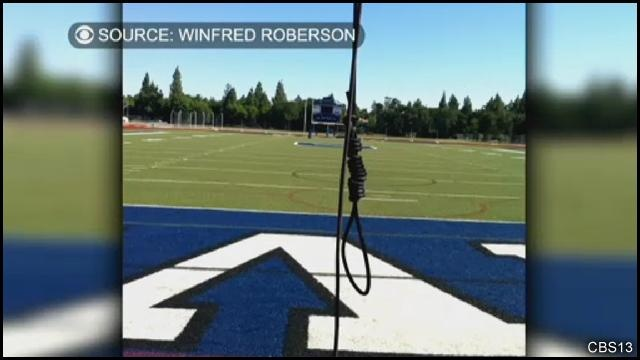 Police investigating after noose found hanging from football field - http://www.wtsp.com/news/watercooler/article/260166/58/Police-investigating-after-noose-found-hanging-from-football-field: Police Investigating, Football Field, Weird Stuff