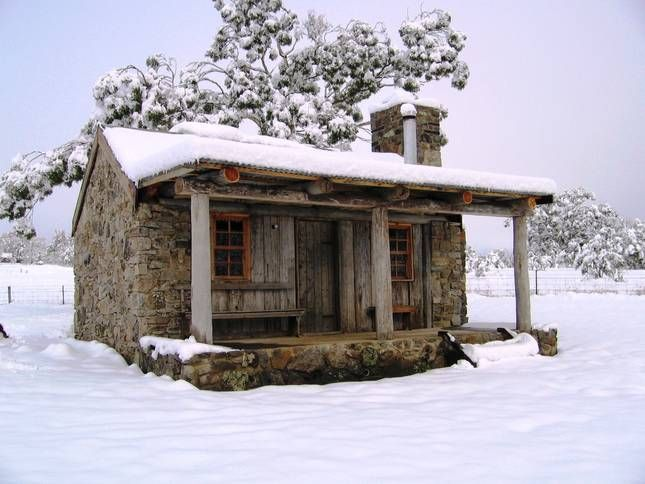Let it Snow ... Stayz.com.au is on Pinterest ... Moonbah Hut in Jindabyne, Snowy Mountains