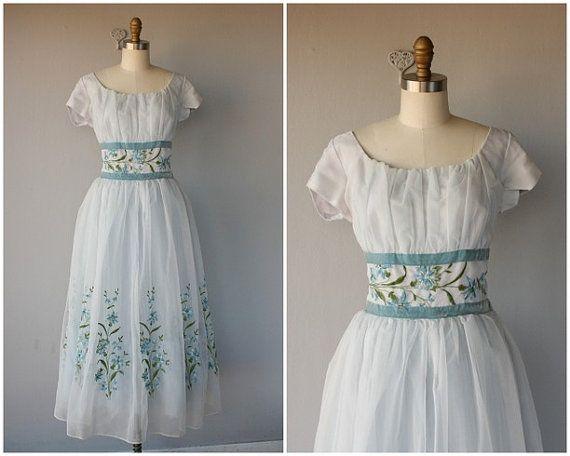50er Jahre Prom Kleid  Jahrgang 1950 s von CustardHeartVintage