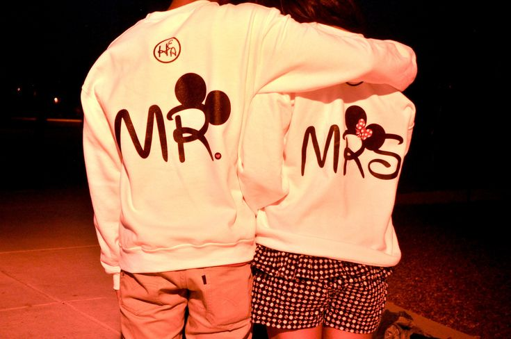 These mickey his and hers hoodies but cheaper!