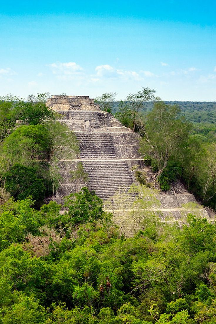 Travel with Travelon bags! Calakmul is an ancient Mayan city located deep within the jungle on Mexico's Yucatan Peninsula. Not many people make it out this way due to it's remote location.