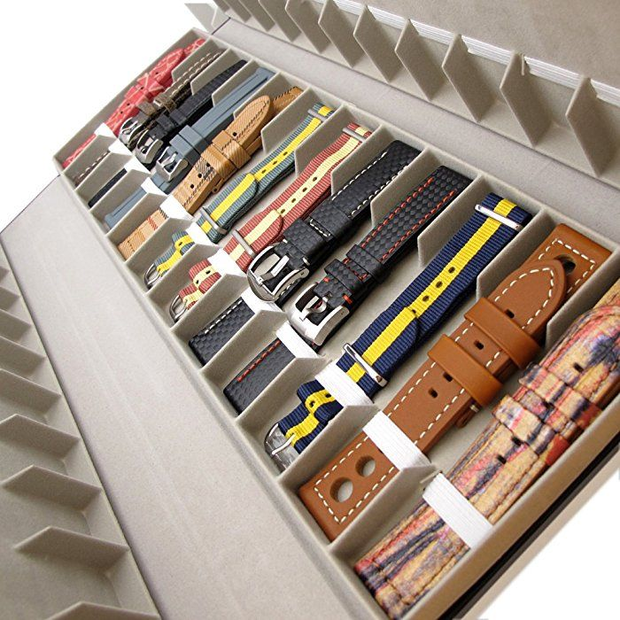 48 Slots Watch Strap Holder Black Color Watch Band Hard Storage