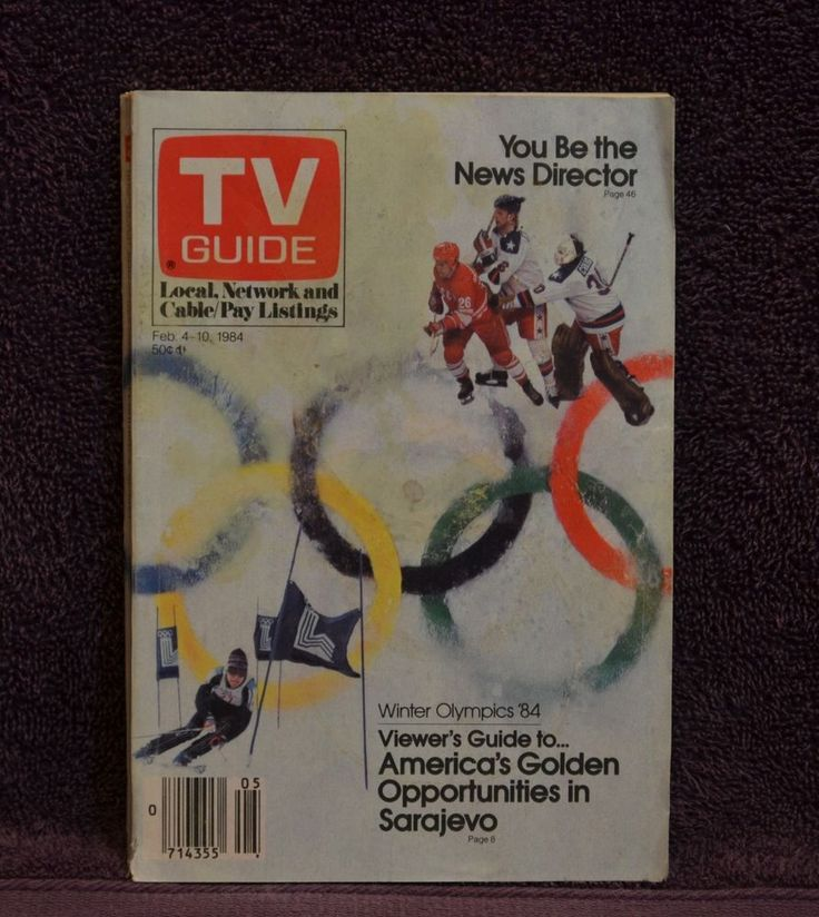 vintage tv guide feb 4 -10 1984 winter olympics chicago ed no label crossword from $2.99