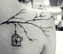 birdcage tree tattoo