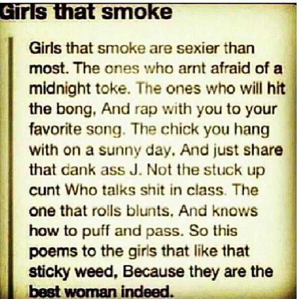 Women that smoke weed~~