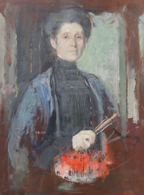 Olga Boznańska - Self portrait