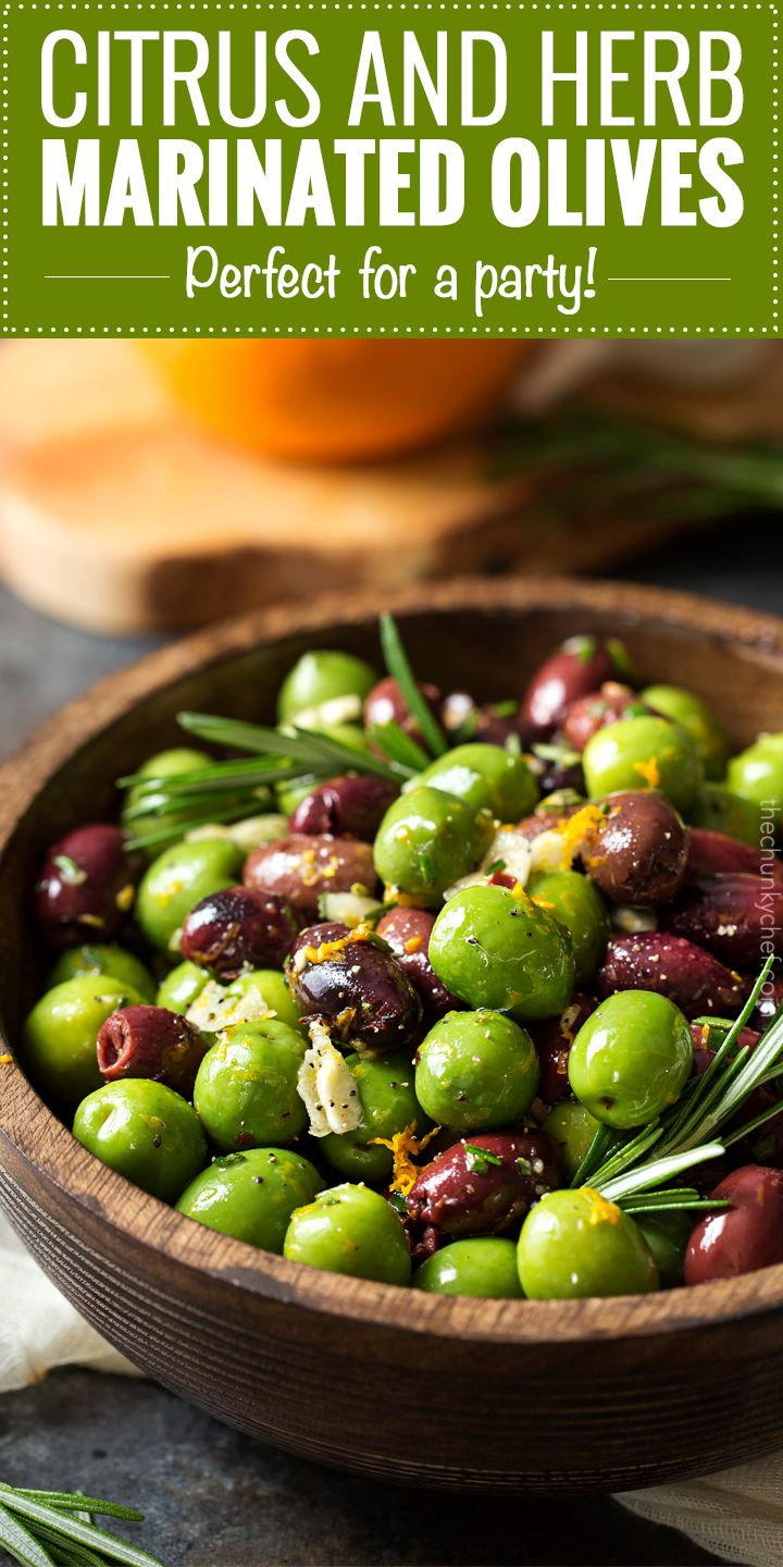 Easy Citrus Herb Marinated Olives | Recipe