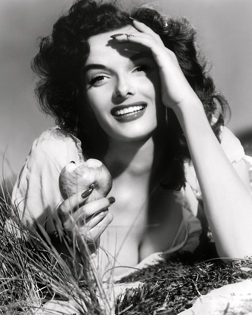 Jane Russell, publicity shot by George Hurrell for The Outlaw (1943)    this woman was a goddess….