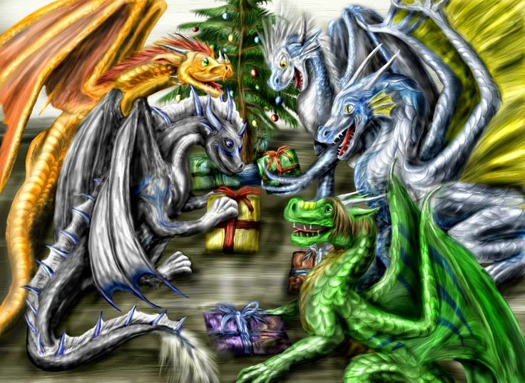 44 best Dragons - Christmas / Winter images on Pinterest | Dragon ...