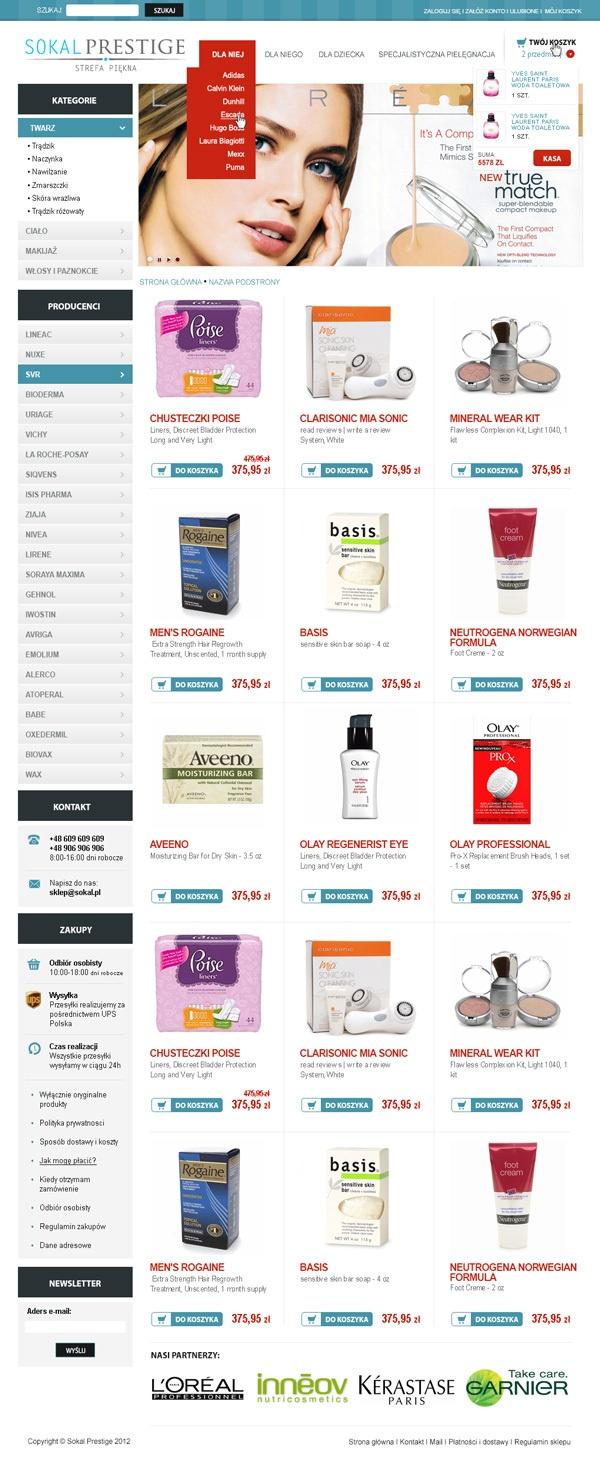 Cosmetics store by Artur G., via Behance