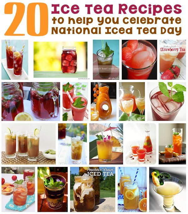 20 Recipes for National Iced Tea Day - Did you know that today is National Iced Tea Day? How about celebrating by trying one or more of these tasty tea recipes - (http://www.holiday-favorites.com/20-recipes-for-national-iced-tea-day/)