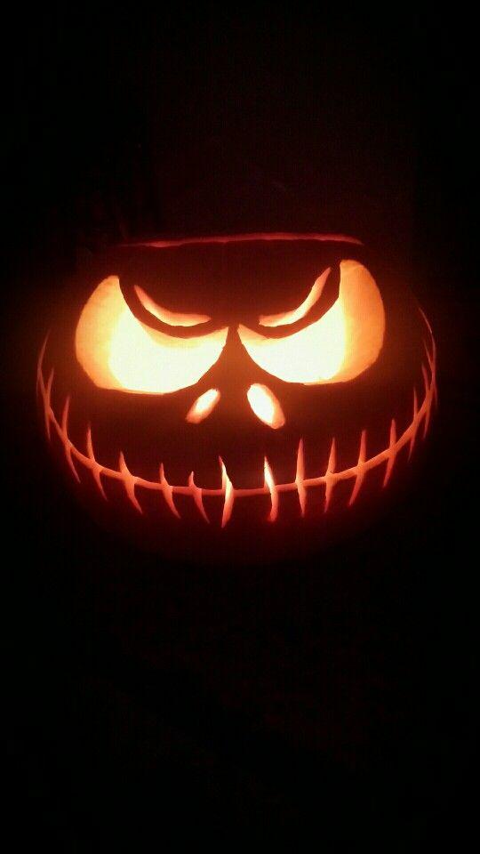 My first pumpkin #pumpkin #jackskellington #wscrafting @whitestuff