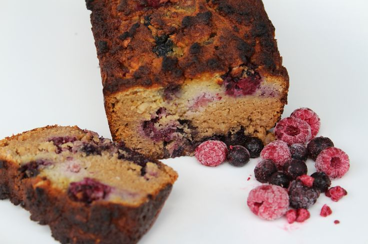 Coconut and berry loaf that is #nutfree #paleo #grainfree #healthy