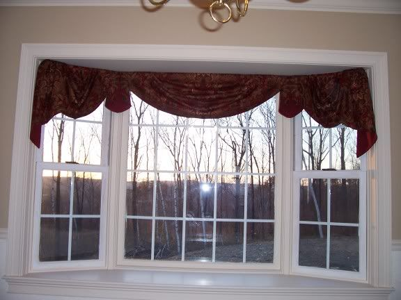 38 best bay window ideas curtains and rods images on Window treatments for bay window in living room