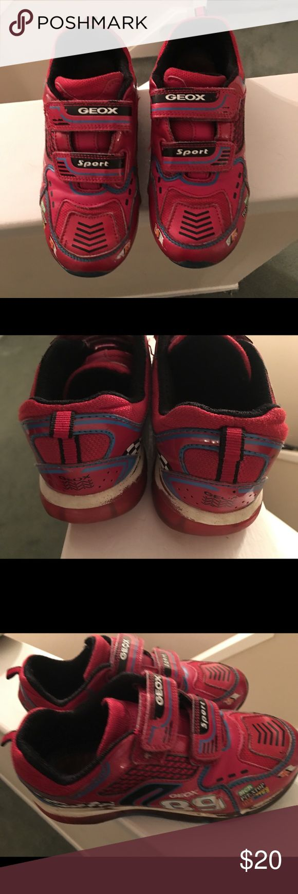 Geox kids sneakers with lights Red with lights Geox Shoes Sneakers
