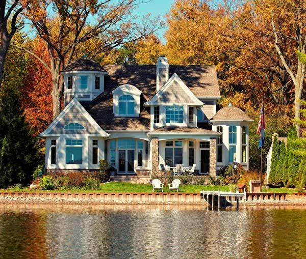 beautiful lake house.