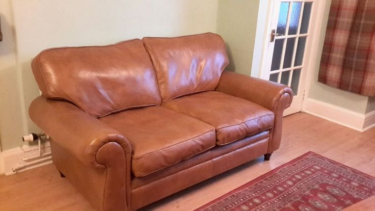 I have for sale this butter soft tan leather two seater sofa by LAURA ASHLEY. The leather has been oiled regularly to keep it's suppleness so it is soft. It has been well cared for and in a lovely condition with no tears or rips to the leather. | eBay!