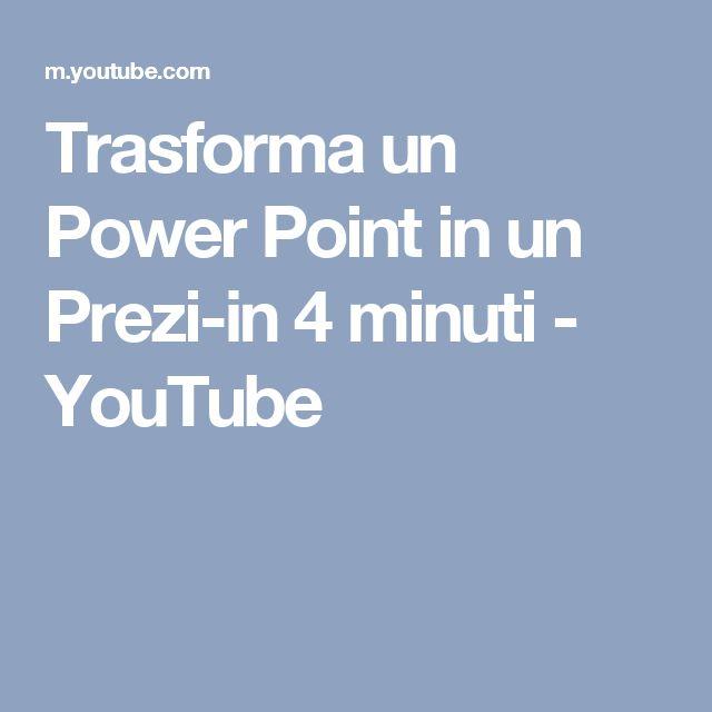 Trasforma un Power Point in un Prezi-in 4 minuti - YouTube