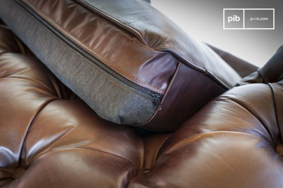 Grand Canape Dark Chesterfield Chesterfield Cuir Chesterfield