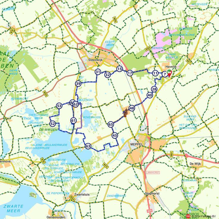 Fietsroute: Naar Giethoorn en natuurgebied de Wieden (http://www.route.nl/fietsroutes/178561/Naar-Giethoorn-en-natuurgebied-de-Wieden/)